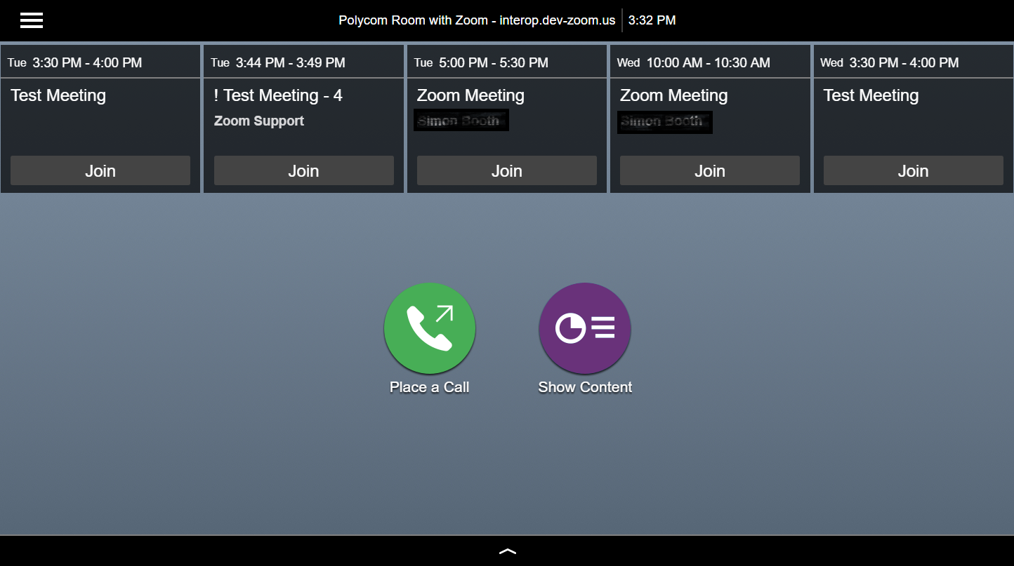 Zoom Meeting Room Screen