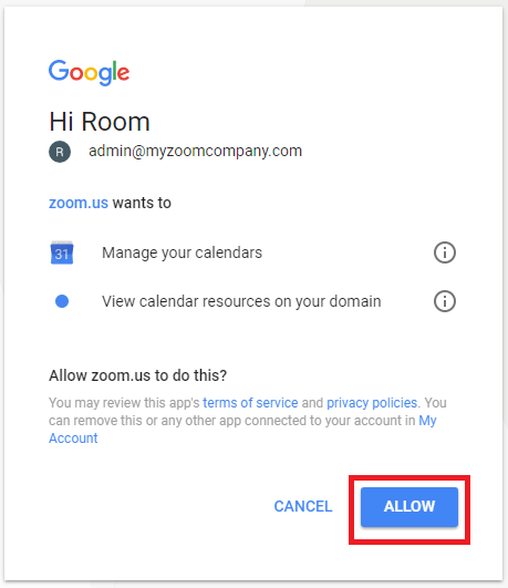 rooms to go account login setting up zoom rooms with calendar zoom help center 19635