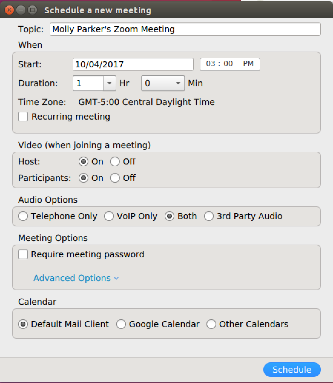 how do i schedule meetings zoom help center