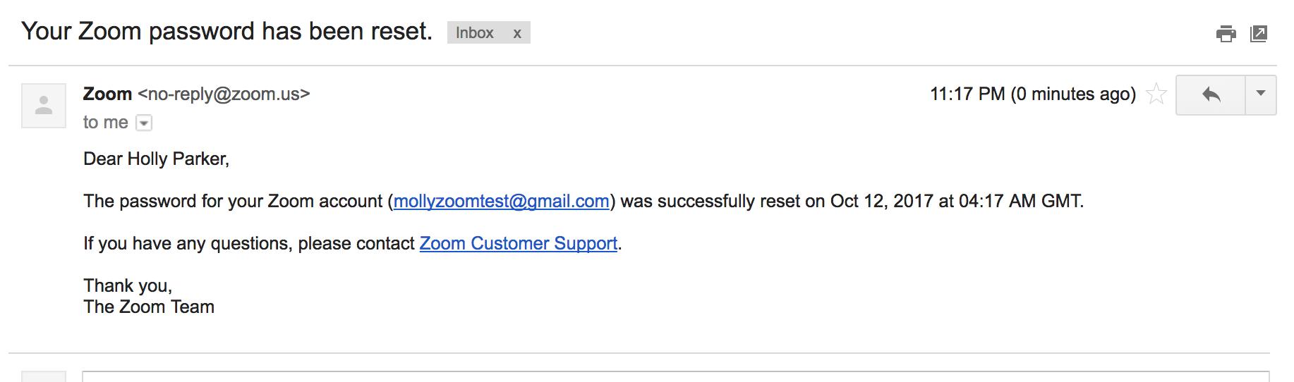 gmail forgot password change
