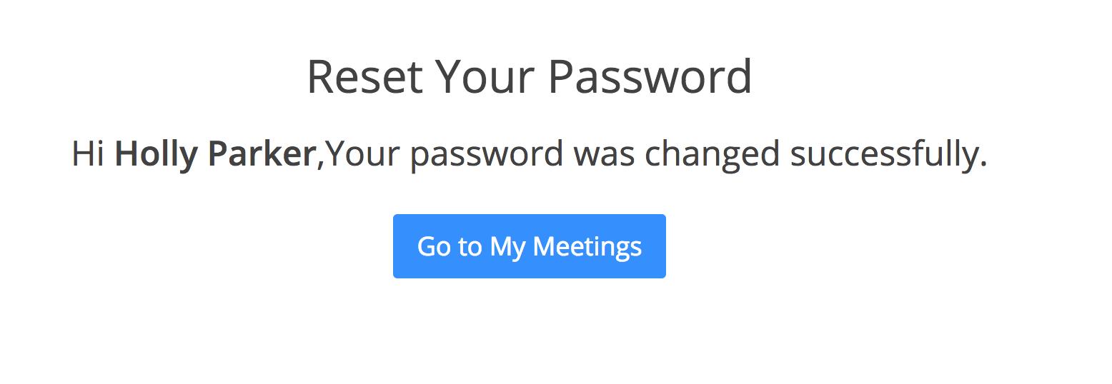 Forgot My Password Zoom Help Center