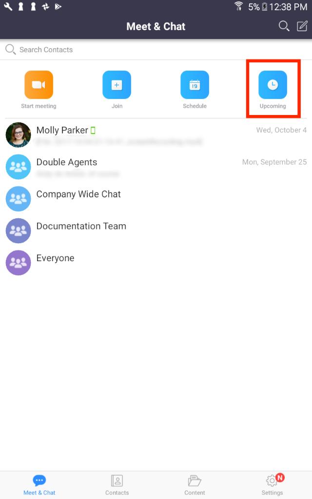 My Meetings – Zoom Help Center