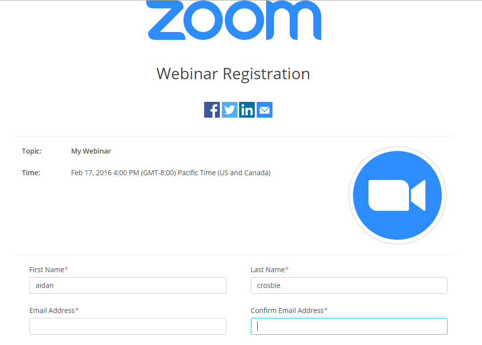 Webinar Branding And Email Settings Zoom Help Center - Registration email template html