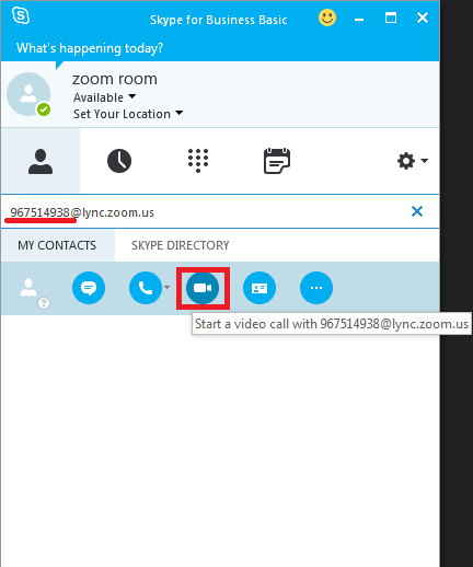 Skype for Business/Lync Integration – Zoom Help Center