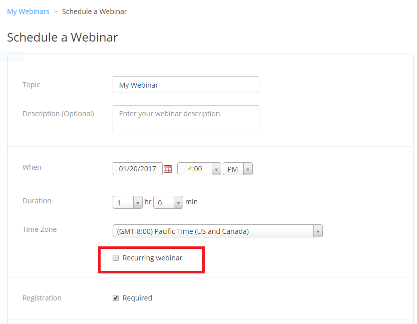 How To Schedule A Recurring Webinar Zoom Help Center