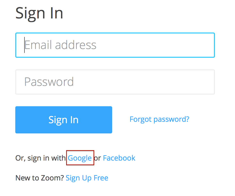 Login with Google – Zoom Help Center