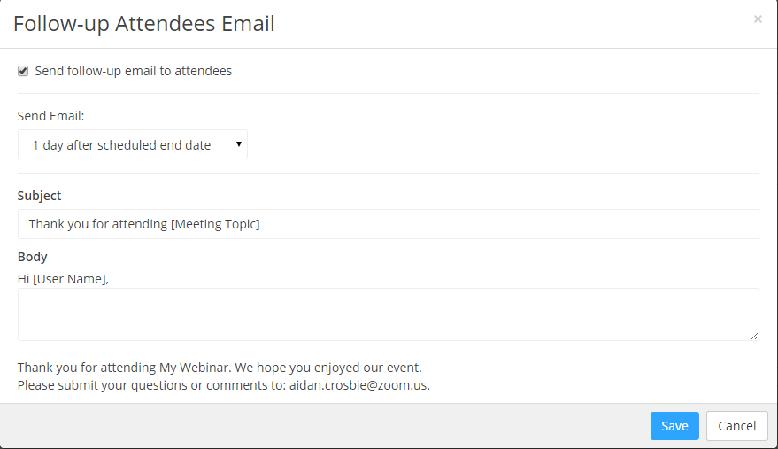 Webinar Branding And Email Settings Follow