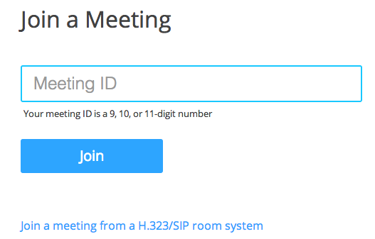 Zoom Meeting Join