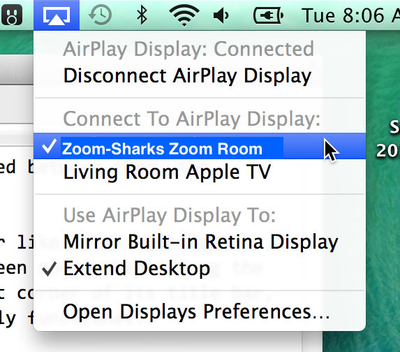 Meeting Rooms] [Zoom] Screen Share Using Airplay Mirroring