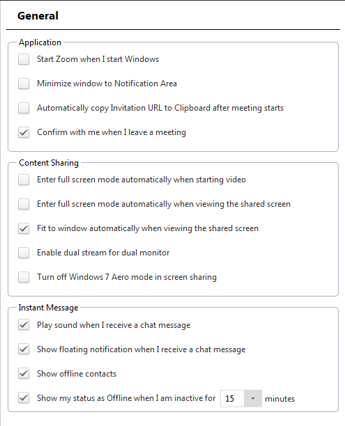 Home Screen Settings: Zoom Training (Faculty)
