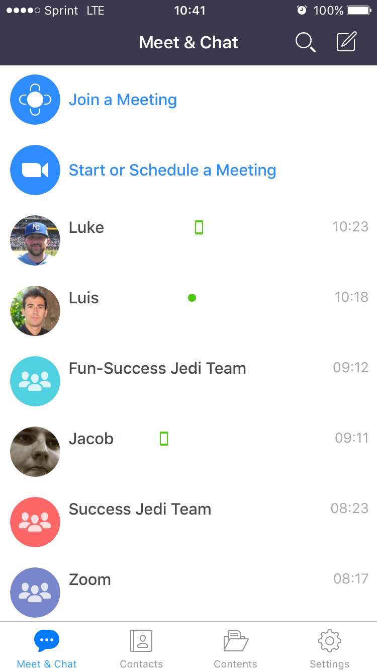 Getting started with group messaging zoom help center select meet chat here you can see active group chats or create a new group chat in the top right corner ccuart Image collections